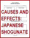 Causes and Effects of the Japanese Shogunate DIY Infographic Worksheet