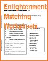 enlightenment matching worksheets. Black Bedroom Furniture Sets. Home Design Ideas