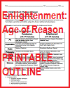 Enlightenment Printable Outline
