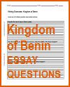 Kingdom of Benin Writing Exercises