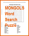 Mongols Word Search Puzzle