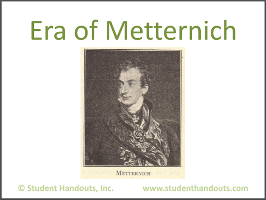 Metternich Era PowerPoint Presentation for High School World History