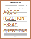 Age of Reaction Essay Questions