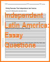 Independent Latin America Essay Questions