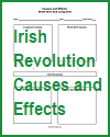 Irish Revolution Causes and Effects Chart Worksheet