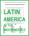 Latin America after Independence Word Search Puzzle