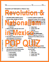Revolution and Nationalism in Mexico Pop Quiz