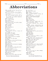 Printable Abbreviations Handout