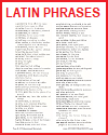 List of Common Latin Words and Phrases