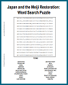 Japan and the Meiji Restoration Word Search Puzzle