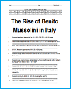 Rise of Benito Mussolini in Italy Code Puzzle