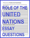 Role of the United Nations Essay Questions