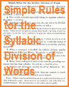 Simple Rules for the Syllabic Division of Words
