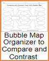 Bubble Map Organizer to Compare and Contrast