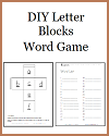 DIY Letter Blocks Word Game