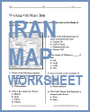 Iran Map Worksheet