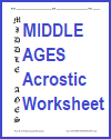 Middle Ages Blank Acrostic Printable