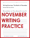 November Handwriting Practice Sheet