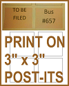 "Templates and Directions for Printing on 3"" x 3"" Post-its"