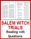Witches of Salem Reading with Questions