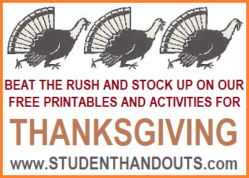 Thanksgiving Freebies - coloring sheets, worksheets, activities, and more. All free!