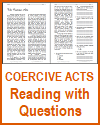 Coercive Acts Reading with Questions