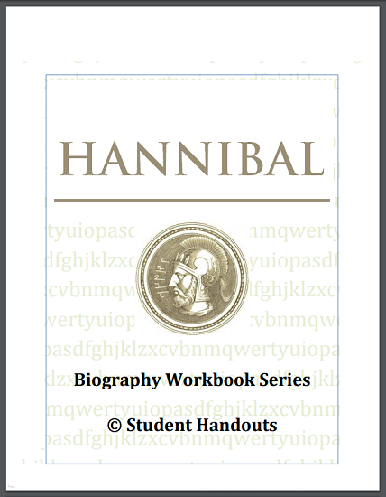 Hannibal Biography Workbook - For grades 7-12. Free to print (PDF file).