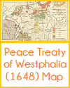 Peace Treaty of Westphalia (1648) Map