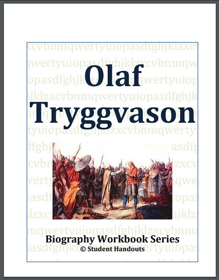 Olaf Tryggvason Biography Workbook - Free to print (PDF file). Grades 7-12.