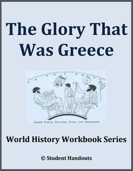 Ancient Greece History Workbook - Free to print (PDF file). 19 pages. For high school students.