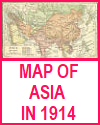 Map of Asia in 1914