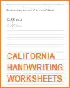 California Handwriting Practice Worksheets