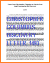 Letter from Christopher Columbus on Discovery, 1493