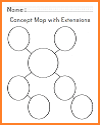 Blank Concept Map Worksheet with Extensions