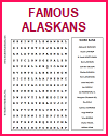 Famous Alaskans Word Search Puzzle