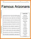 Famous Arizonans Word Search Puzzle