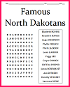 Famous North Dakotans Word Search Puzzle