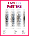 Famous Painters Word Search Puzzles