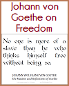 Johann von Goethe - No one is more of a slave...