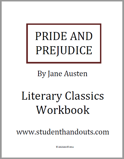 Pride and Prejudice Literary Classics Workbook - Free to print (PDF file). This novel workbook features the complete unabridged text along with questions and activities.