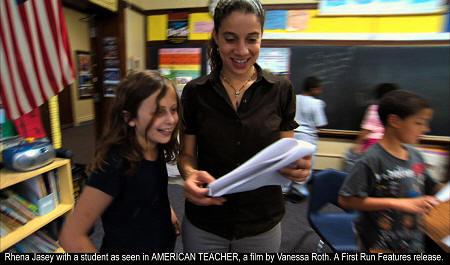 American Teacher Documentary (2011) - Rhena Jasey with a student.