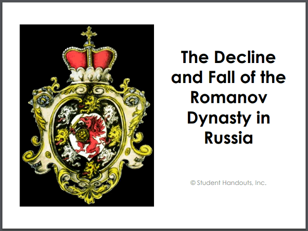 Decline and Fall of the Romanov Dynasty PowerPoint
