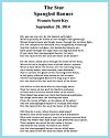 Star-Spangled Banner by Francis Scott Key, 1814