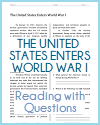 U.S. Enters World War I Reading with Questions