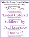 """When Dey 'Listed Colored Soldiers"" by Paul Laurence Dunbar"