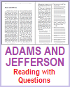 Adams and Jefferson Reading with Questions