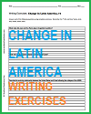 Change in Latin America Writing Exercises