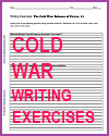 Cold War Writing Exercises Handouts