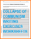 Collapse of Communism Writing Exercises Worksheets