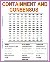 Containment and Consensus Word Search Puzzle